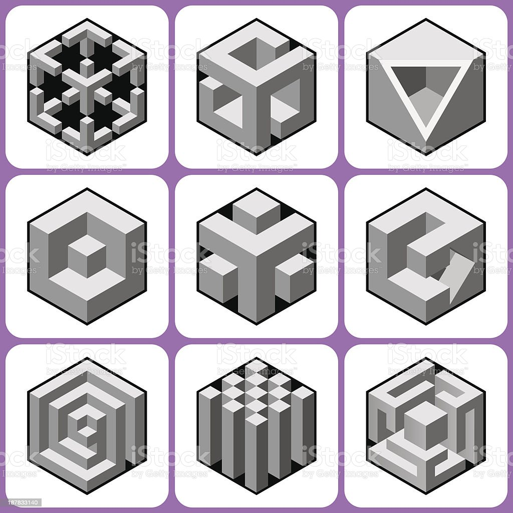Cube Icons Set 6 Stock Vector Art & More Images of Abstract