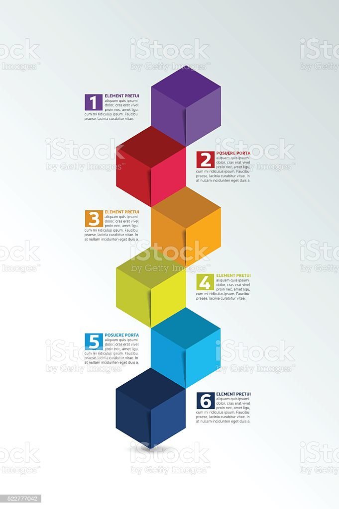 cube infographics timeline options banner template scheme