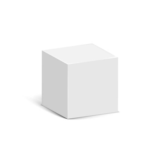 Cube isolated on white background. Vector illustration. Cube isolated on white background. Vector illustration. Eps 10. cube shape stock illustrations