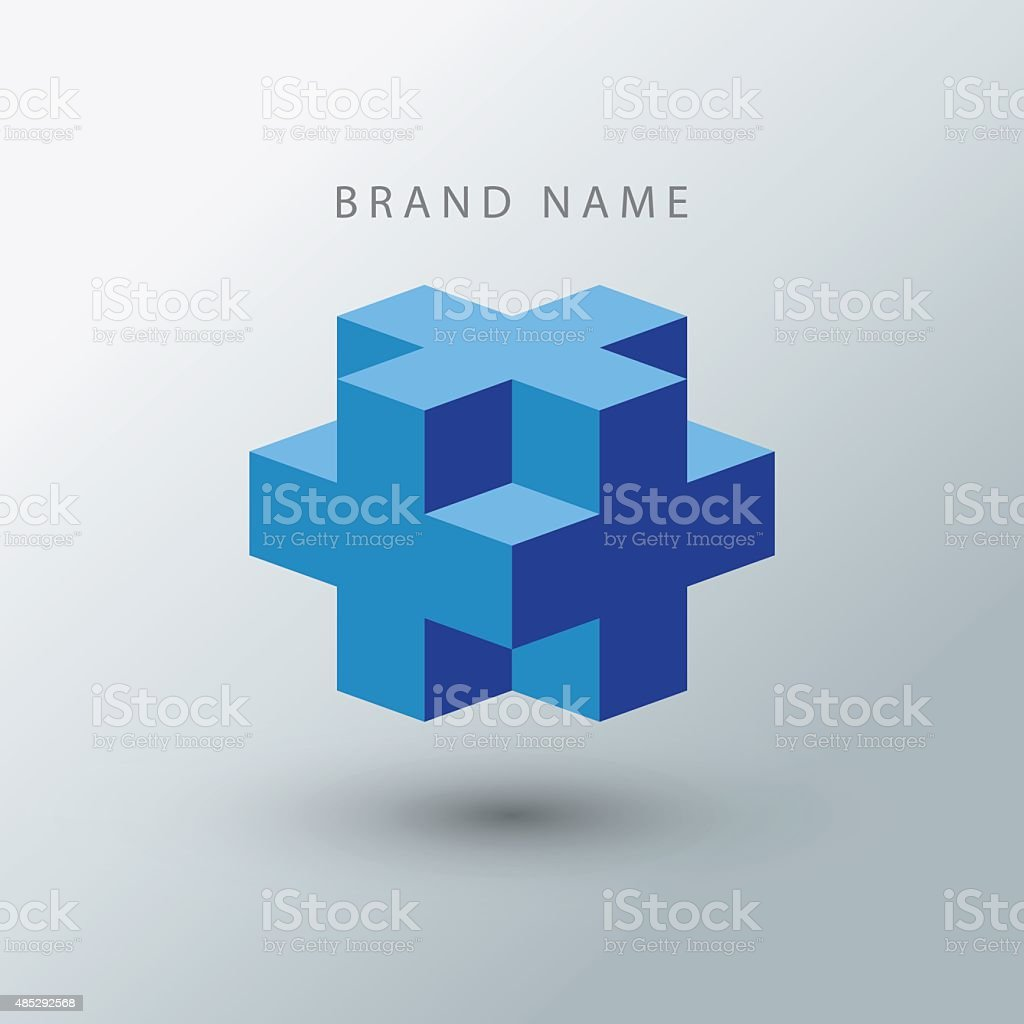 Cube logo design template. vector art illustration