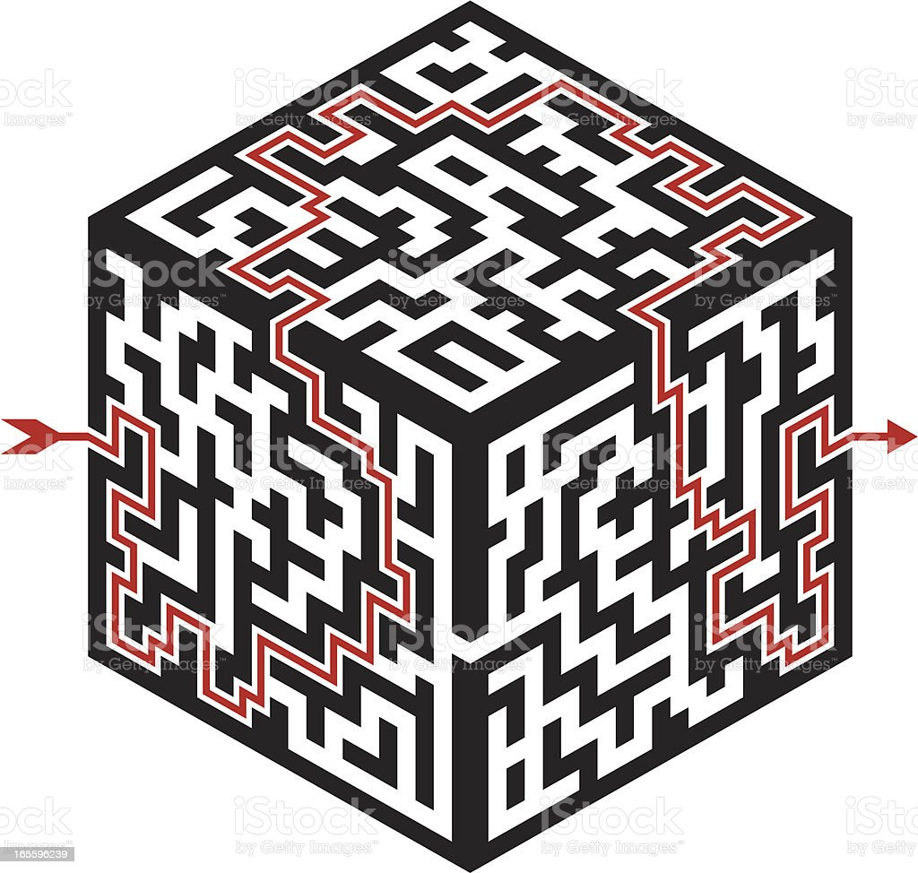 Cube Maze royalty-free cube maze stock vector art & more images of answering