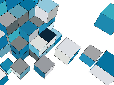 cube model,Abstract Backgrounds