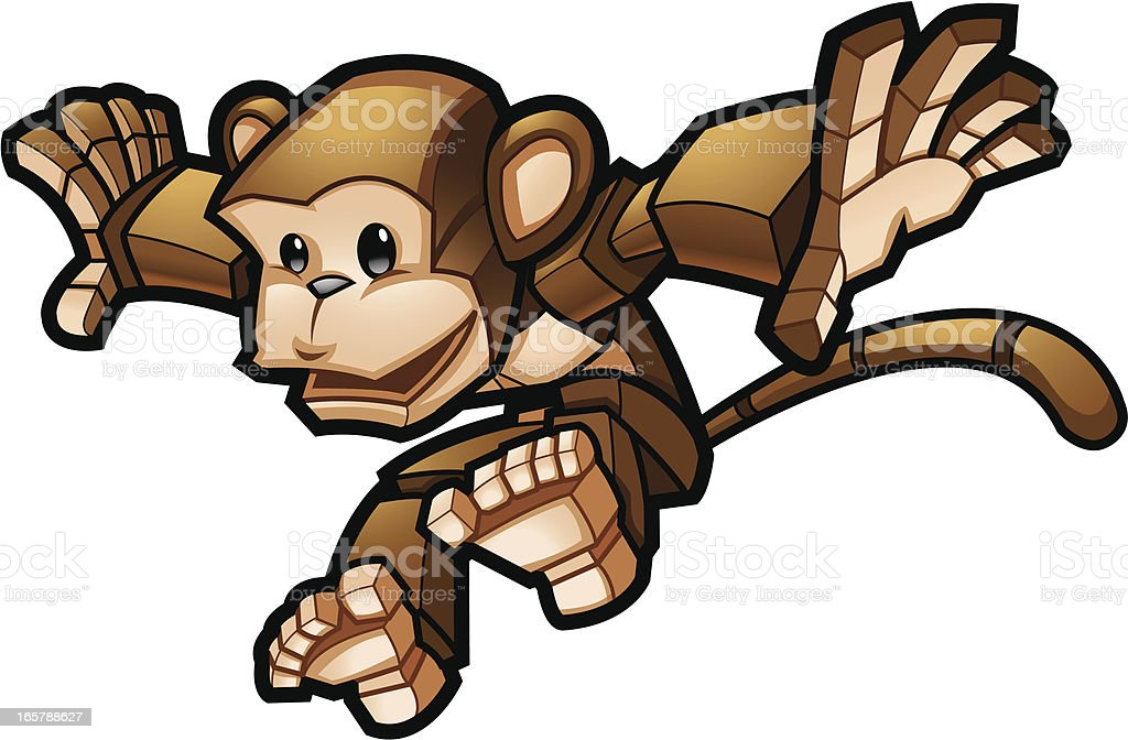 cube monkey royalty-free cube monkey stock vector art & more images of animal