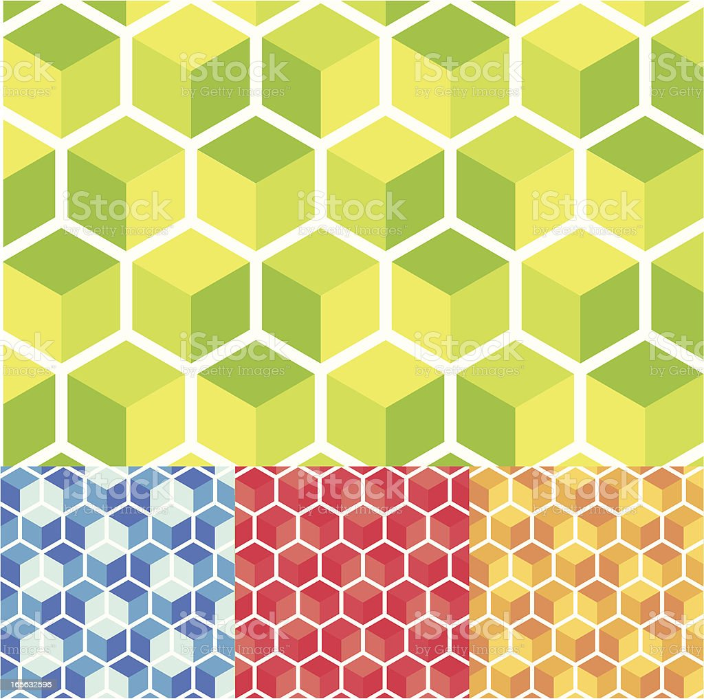 Cube pattern royalty-free stock vector art