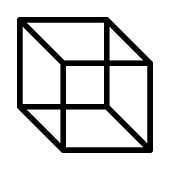 cube Thin Line Vector Icon