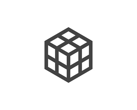 Cube Vector Icon Stock Vector Art & More Images of Abstract