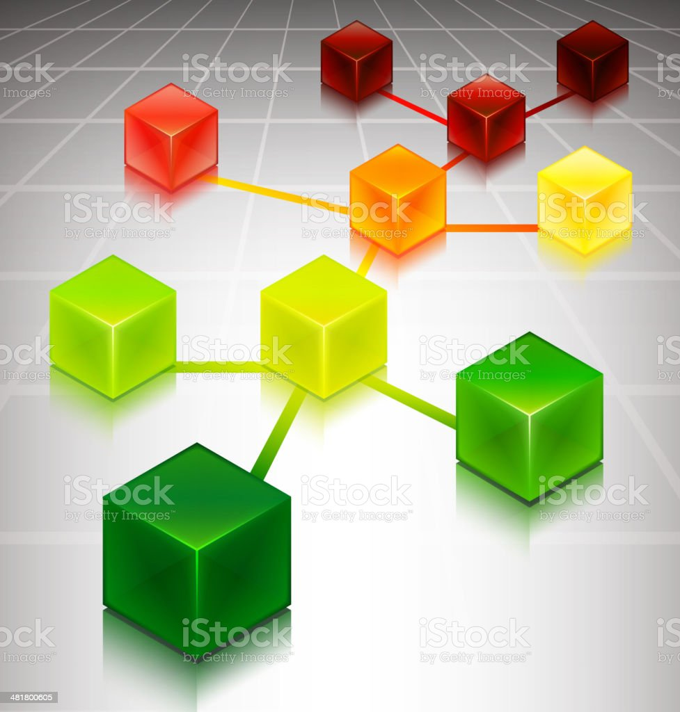 Cube Web Concept on Internet Background royalty-free stock vector art