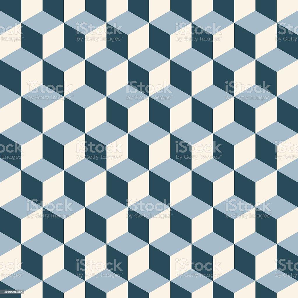 Cubes 3d pattern background. vector art illustration