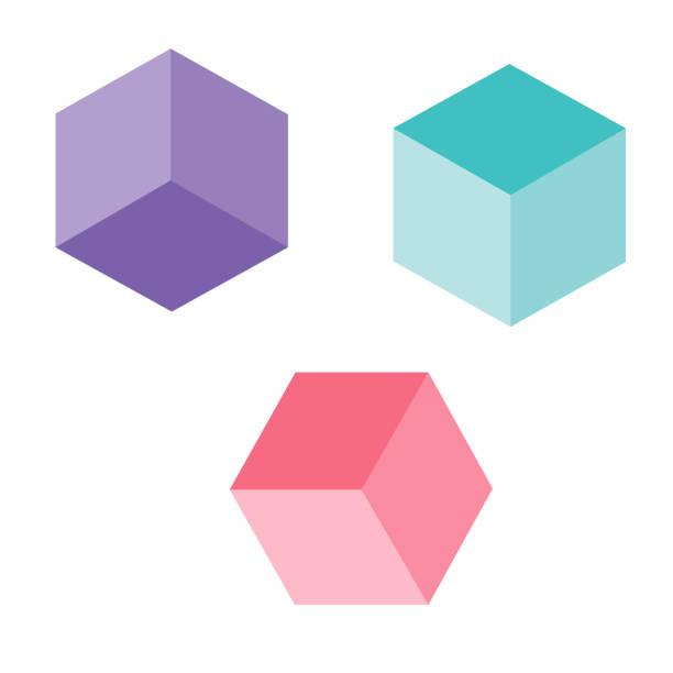 Cubes 3d. Vector Cubes 3d. Vector cube stock illustrations