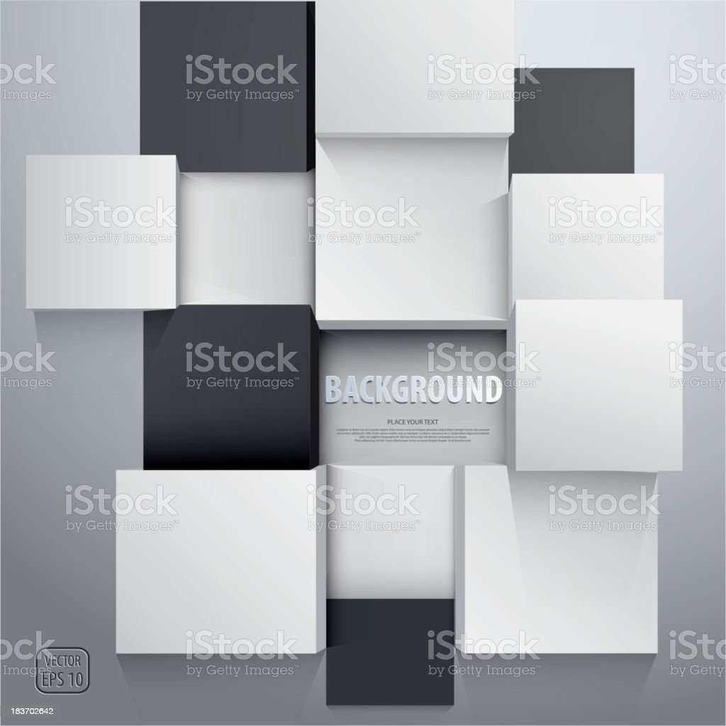 3D cubes background - design template. Vector vector art illustration