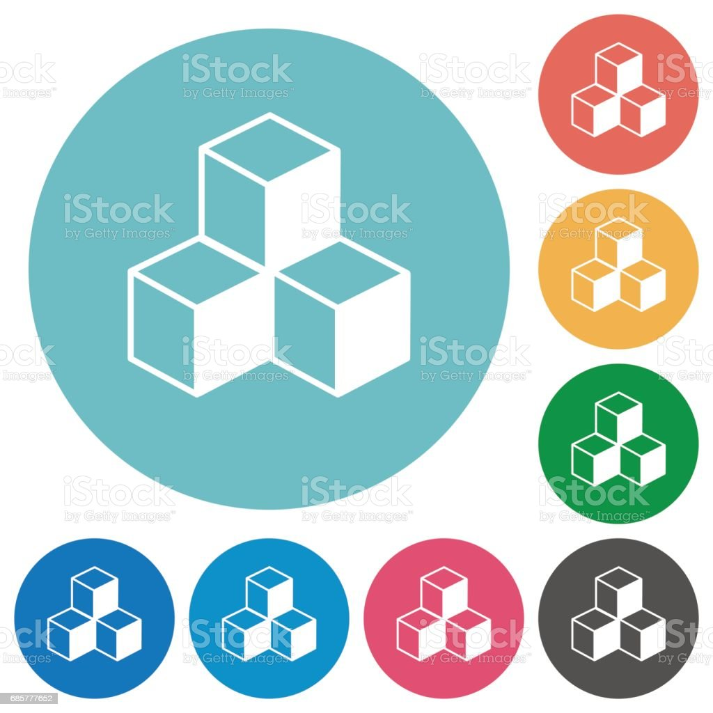 Cubes flat icons royalty-free cubes flat icons stock vector art & more images of applying
