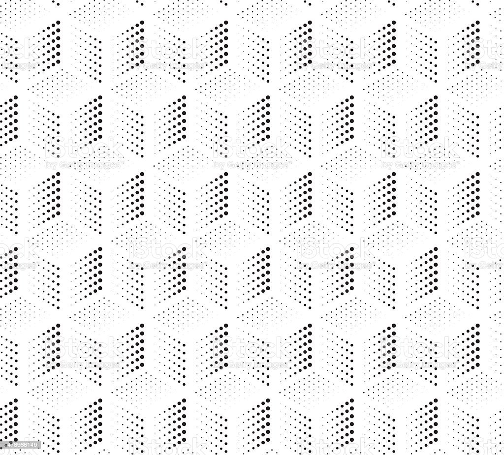 Cubes of Points Seamless Background vector art illustration
