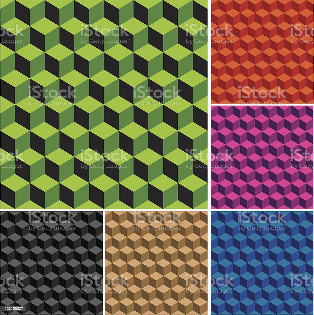 Cubes seamless pattern royalty-free stock vector art