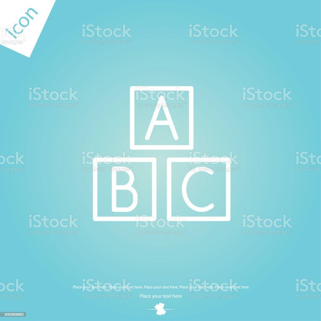 ABC cubos vector icono - ilustración de arte vectorial