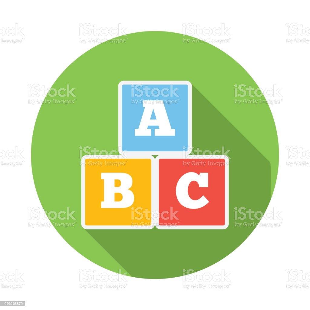 Cubos con letras A, B, C icono - ilustración de arte vectorial