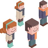 Vector illustration – Cubic Couple Lover.