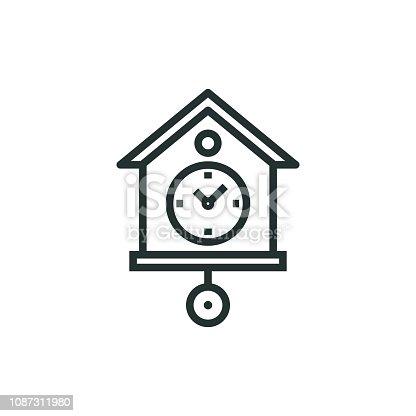 Cuckoo Clock Line Icon