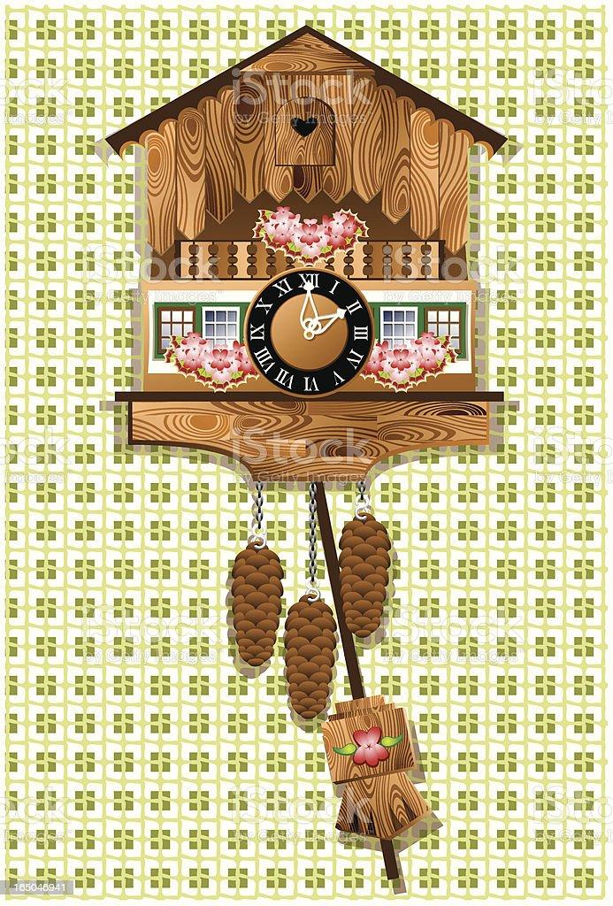 Cuckoo clock (closed) royalty-free stock vector art