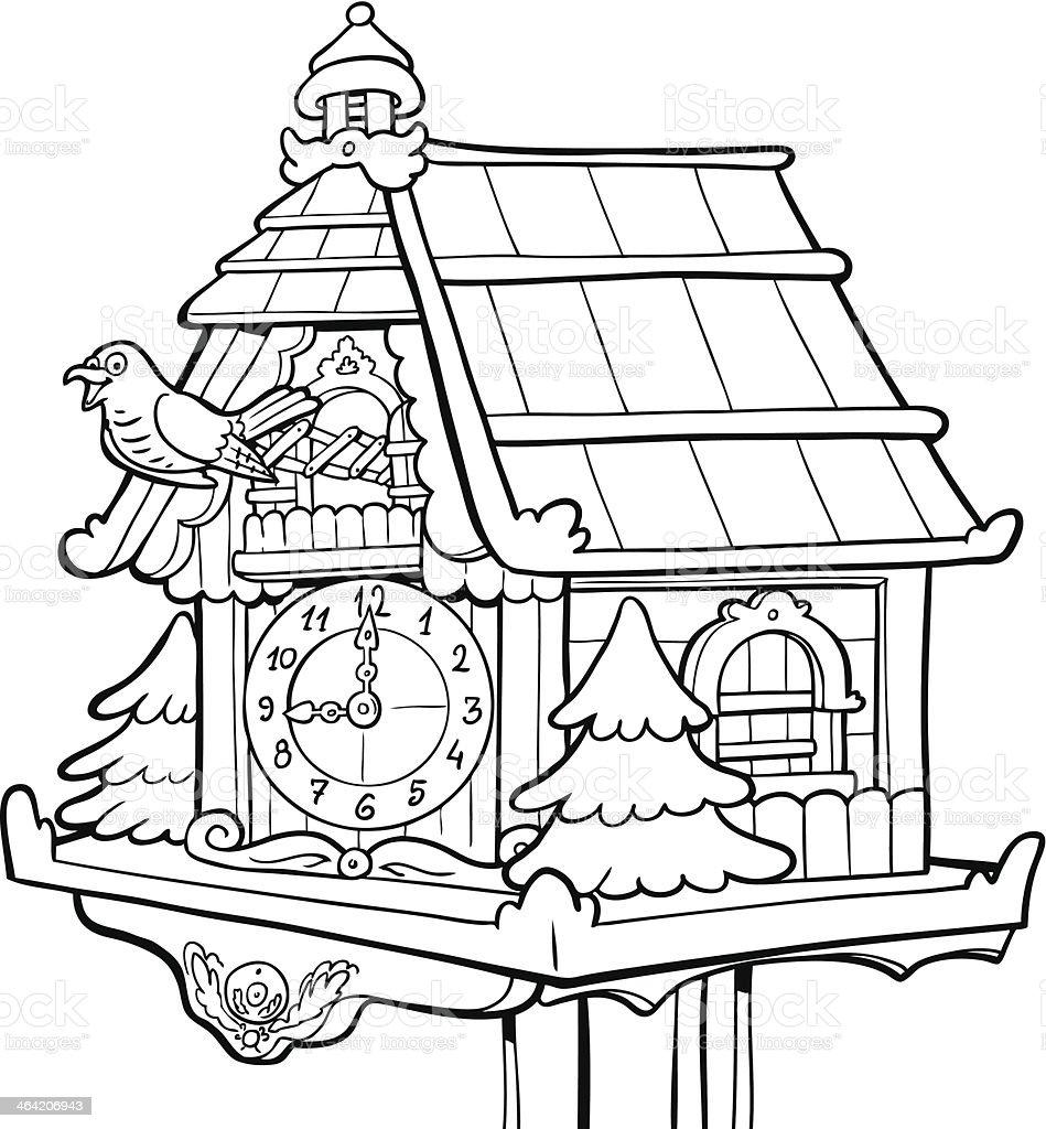 Cuckoo clock royalty-free stock vector art