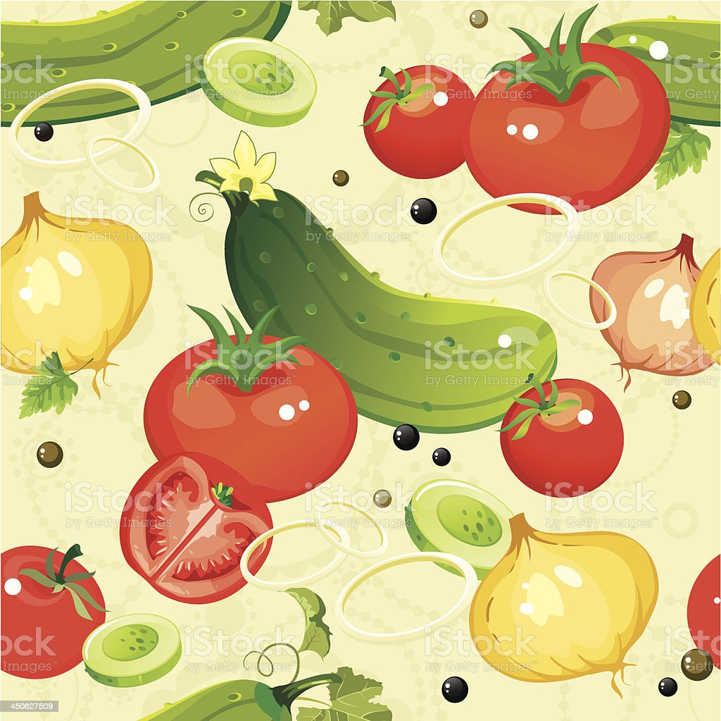 Cucumber and tomato seamless pattern royalty-free cucumber and tomato seamless pattern stock vector art & more images of abstract