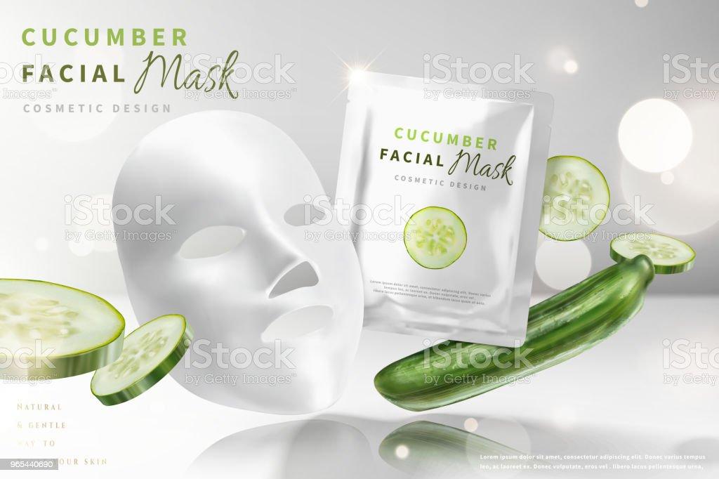 Cucumber facial mask royalty-free cucumber facial mask stock vector art & more images of applying