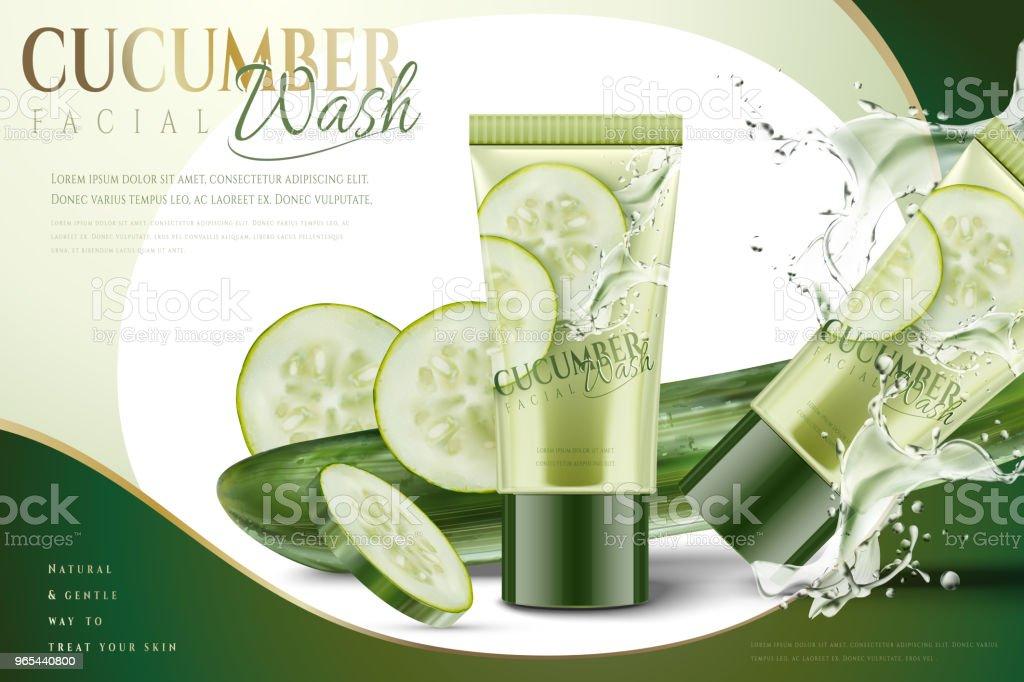 Cucumber facial mask cucumber facial mask - stockowe grafiki wektorowe i więcej obrazów ciecz royalty-free