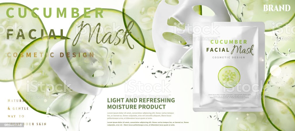 Cucumber facial mask royalty-free cucumber facial mask stock vector art & more images of applying