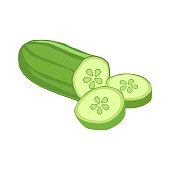 istock Cucumber isolated on white. 936437162