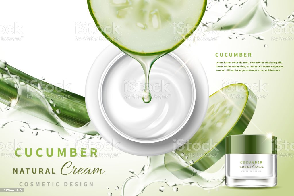 Cucumber natural cream royalty-free cucumber natural cream stock vector art & more images of applying
