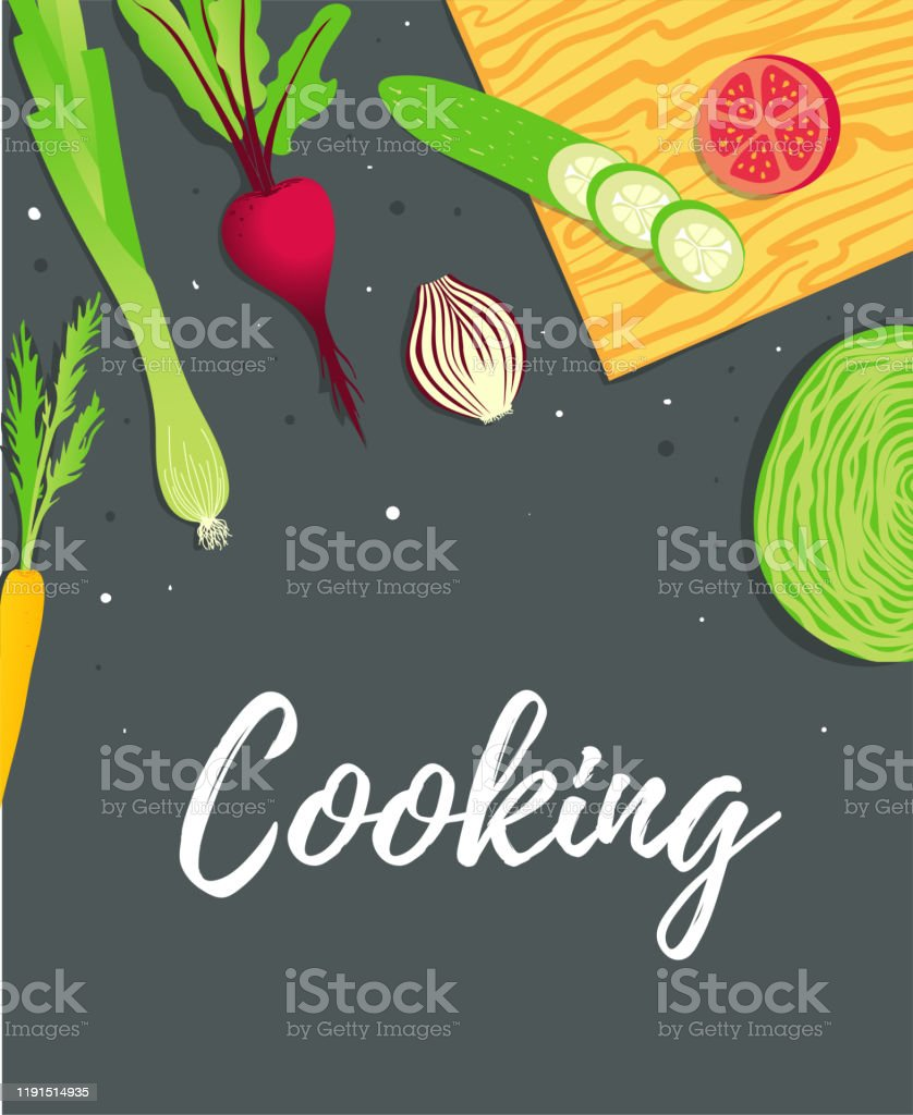 Culinary Blog Banner Template Food Kitchen And Cooking Recipe Of Dish Stock Illustration Download Image Now Istock