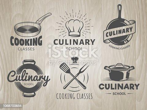 Culinary school logos