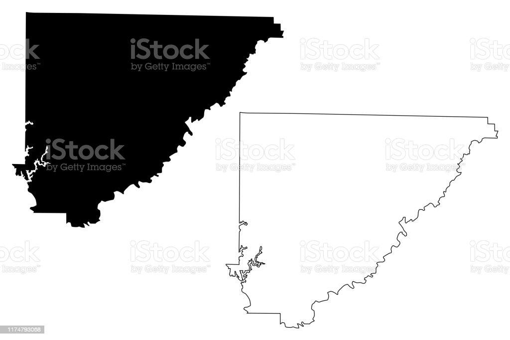 Cullman County Alabama Map Vector Illustration Scribble ...