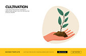 Cultivation Concept Vector Illustration for Website Banner, Advertisement and Marketing Material, Online Advertising, Business Presentation etc.