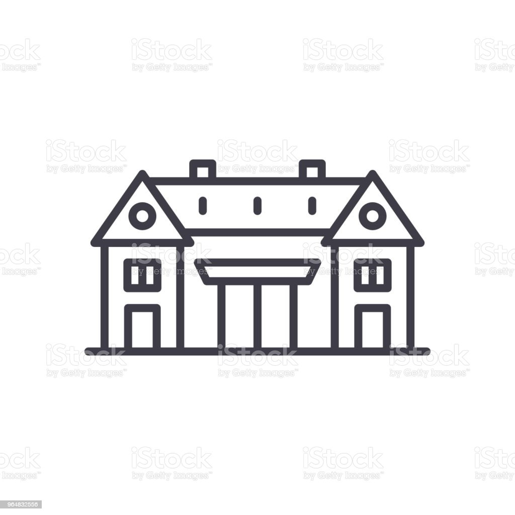 Cultural center black icon concept. Cultural center flat  vector symbol, sign, illustration. royalty-free cultural center black icon concept cultural center flat vector symbol sign illustration stock vector art & more images of arabic style