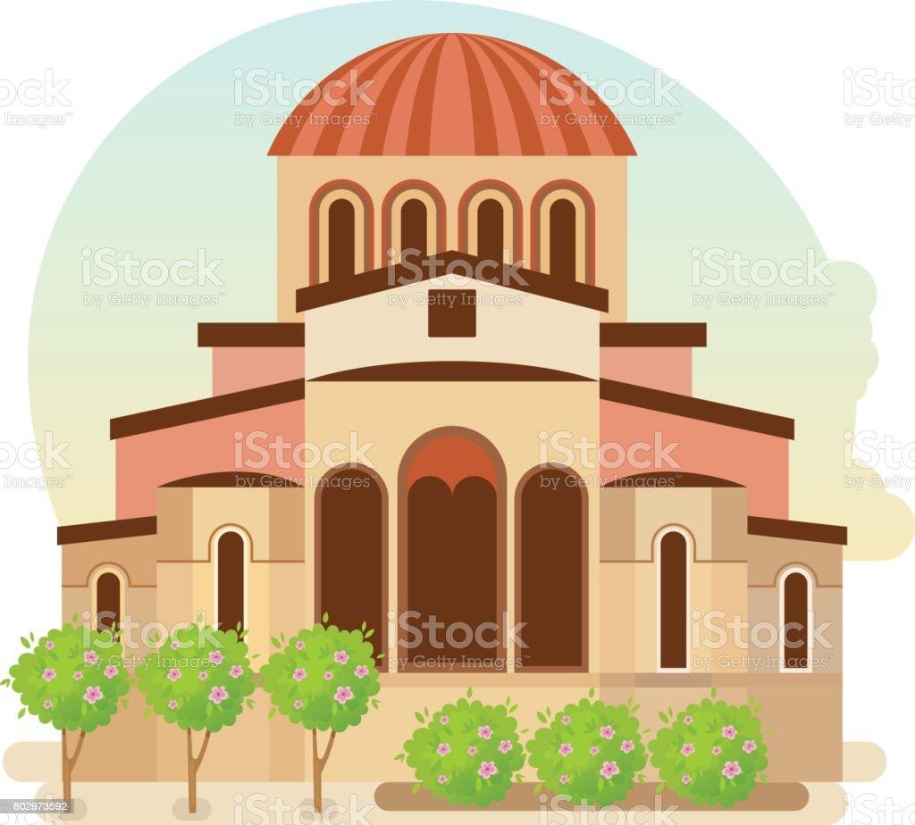 Cultural center of Byzantium, modern medieval city of Mystra Greece
