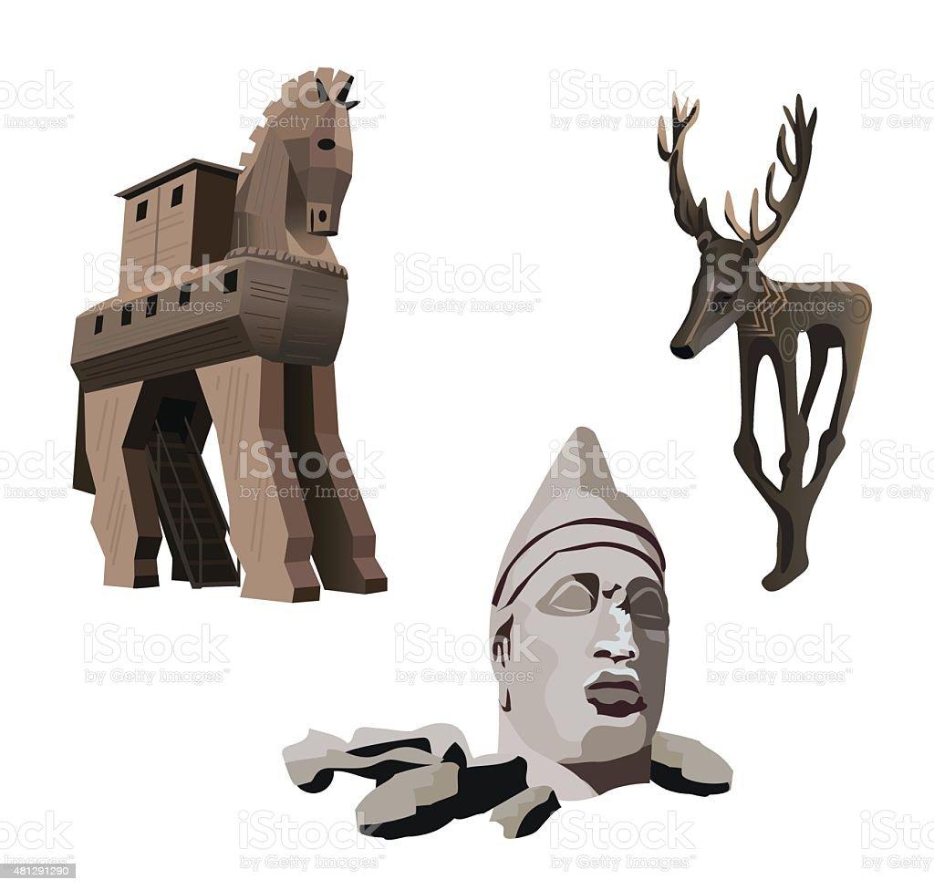 Cultural Heritage vector art illustration
