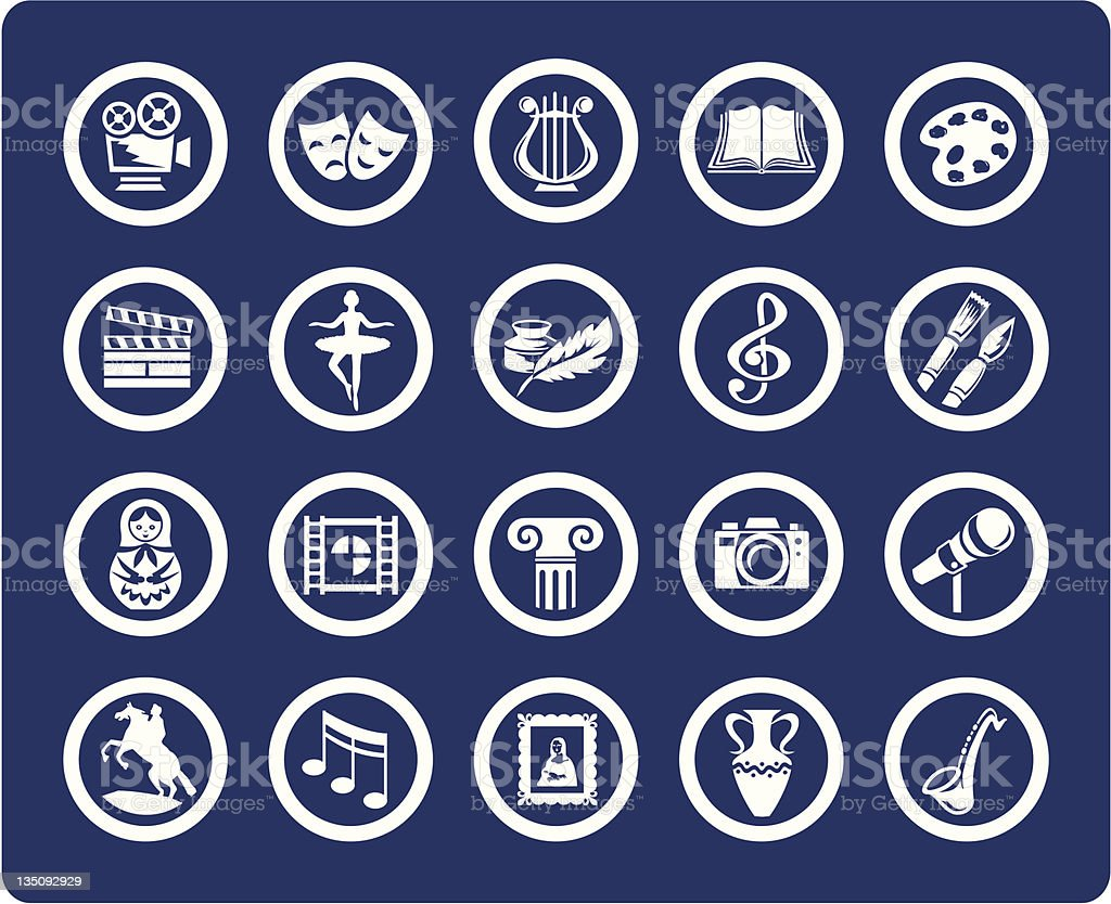 Culture and Art vector icons vector art illustration