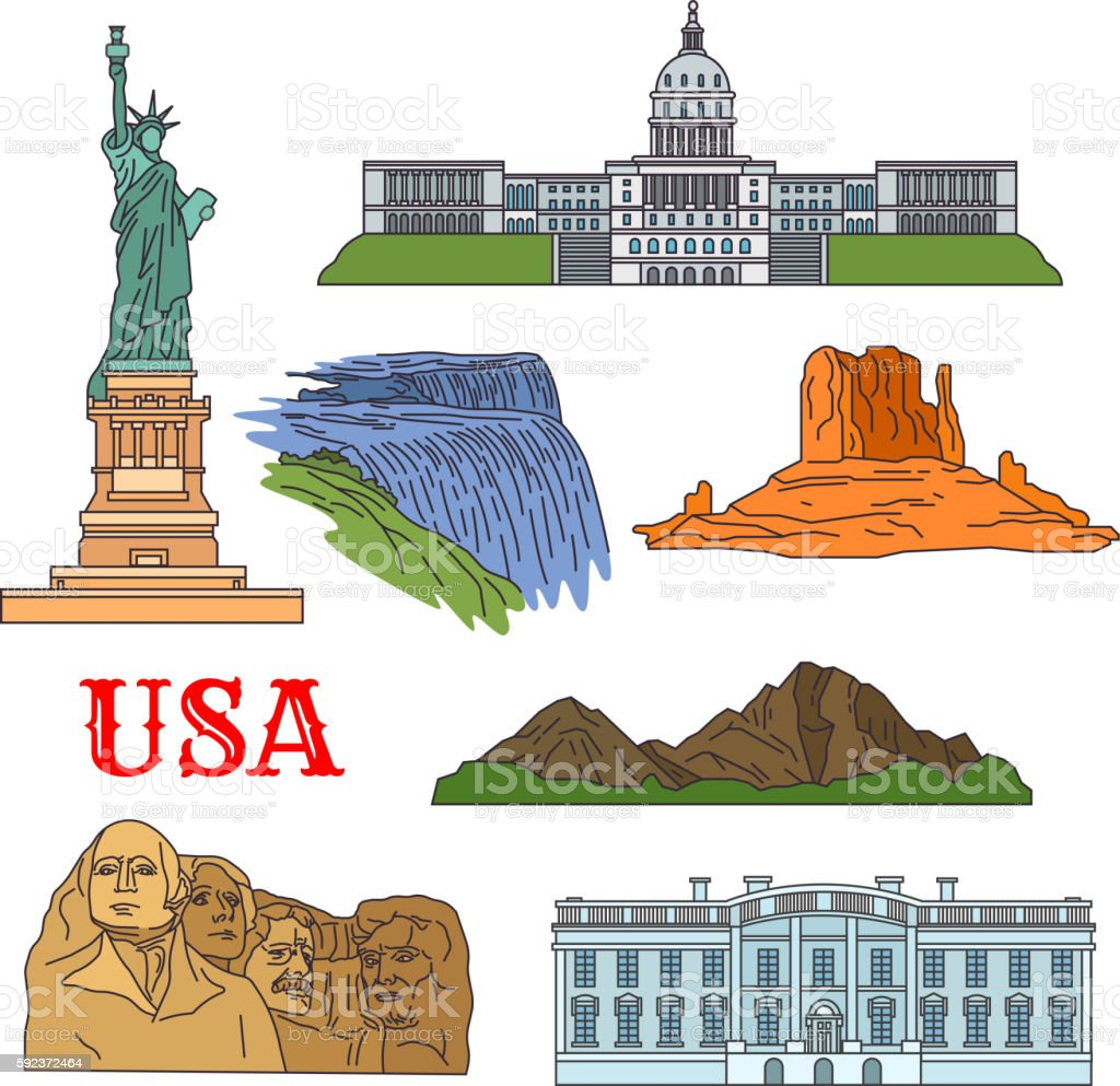 culture history nature travel sights of usa icon - アイコンの