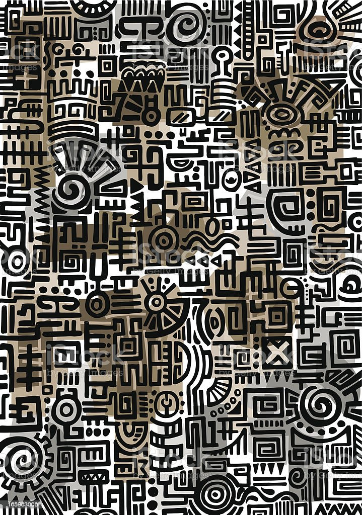 Cultura Maya Garabato - ilustración de arte vectorial