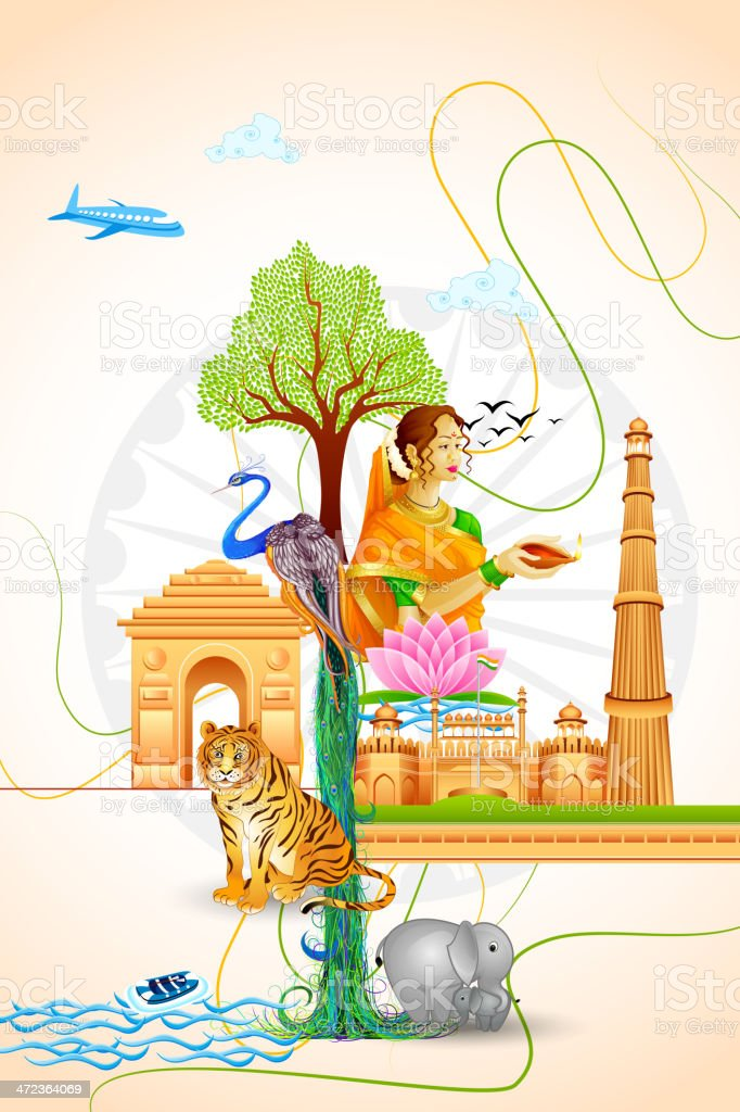 Culture of India royalty-free stock vector art