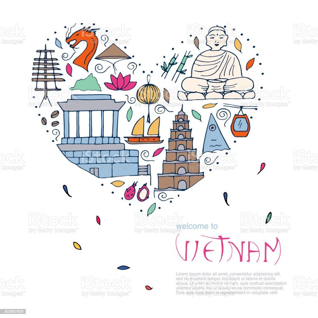 culture of vietnam illustration stock vector art more. Black Bedroom Furniture Sets. Home Design Ideas