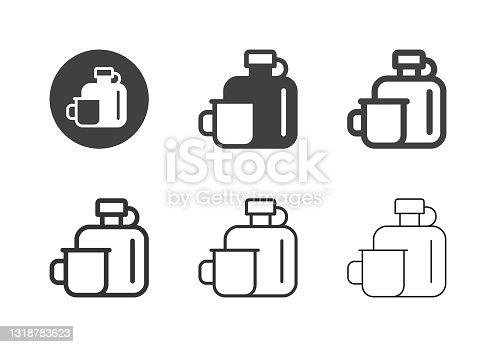 Ícones de Copo e Flask - Multi Series