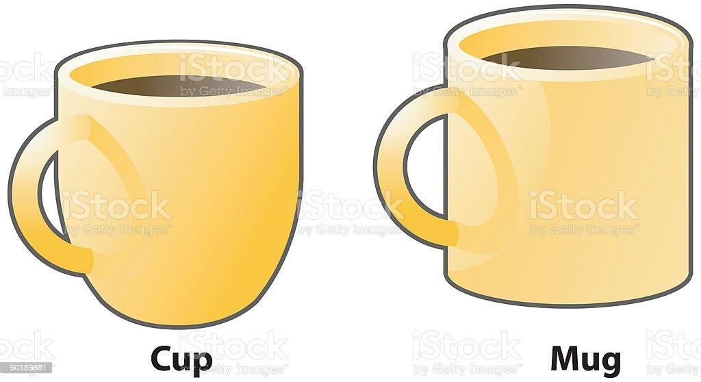 Cup and Mug vector icons royalty-free stock vector art