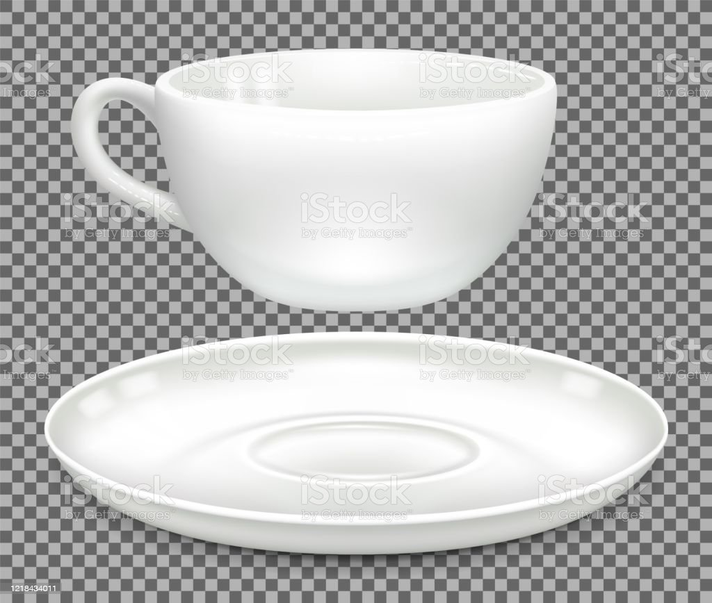 Cup And Saucer Separately Stock Illustration Download Image Now Istock