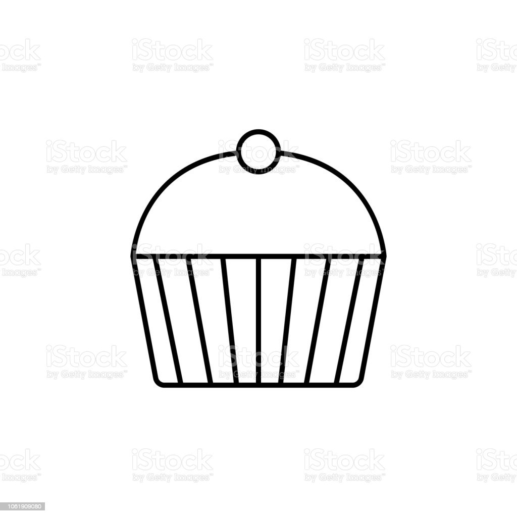 Cup Cake Concept Line Icon Simple Element Illustration Cup