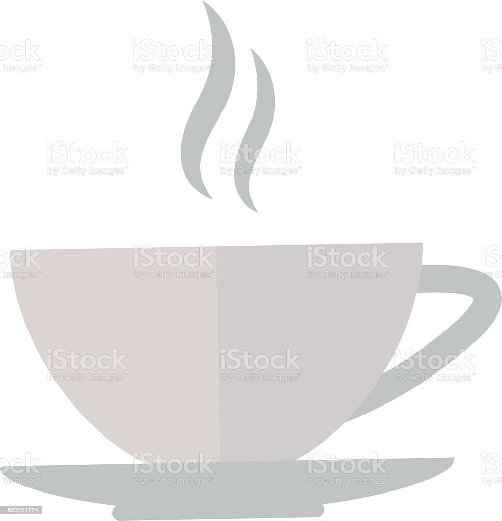 Cup coffe front view vector illustration vector art illustration