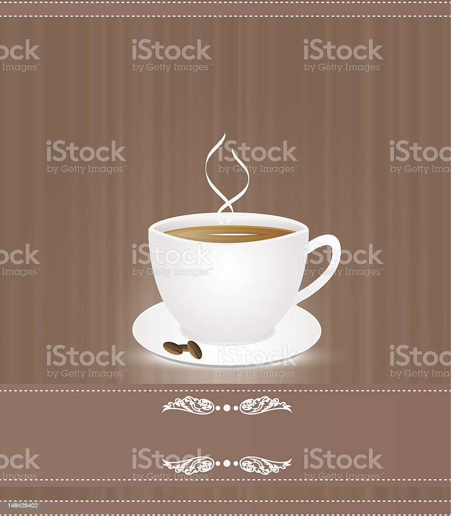 Cup  coffee royalty-free stock vector art