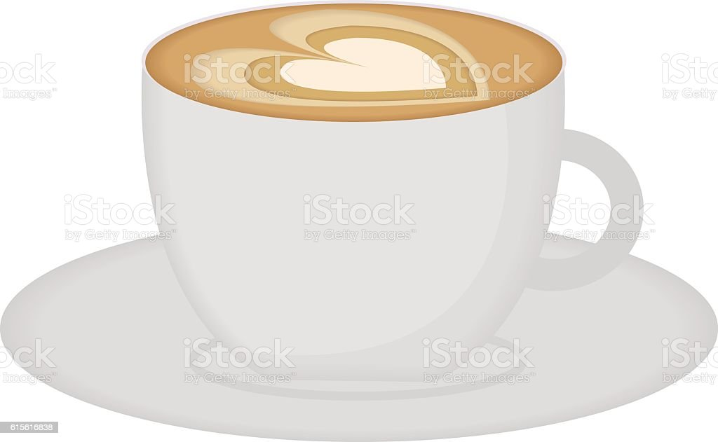 Cup of cappuccino. Vector illustration. – Vektorgrafik