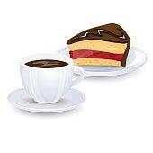 Kostenlose Clipart und Vektorgrafiken für Kuchen, Kaffee ...