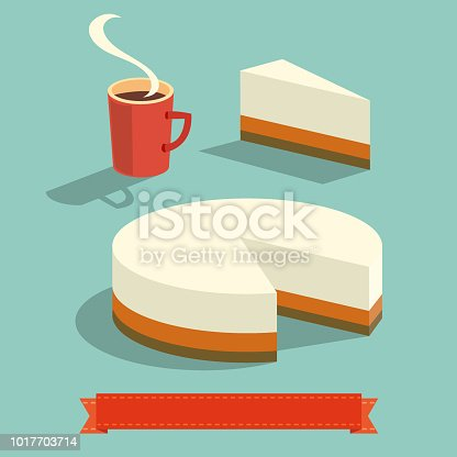 Cup of coffee and Cheesecake